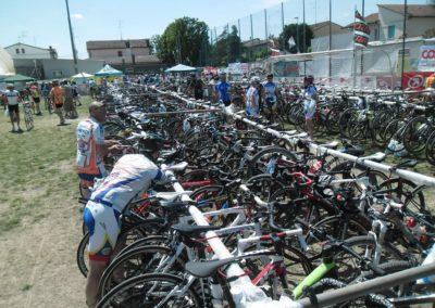 Il parcheggio bici con lucchetto