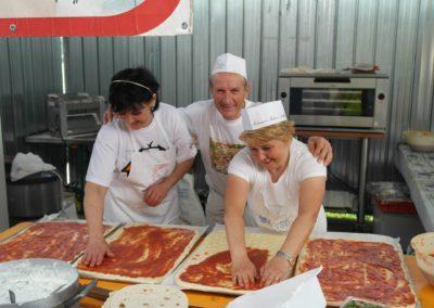 La preparazione della pizza