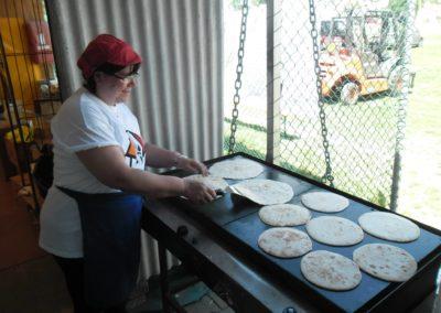 La preparazione delle piadine