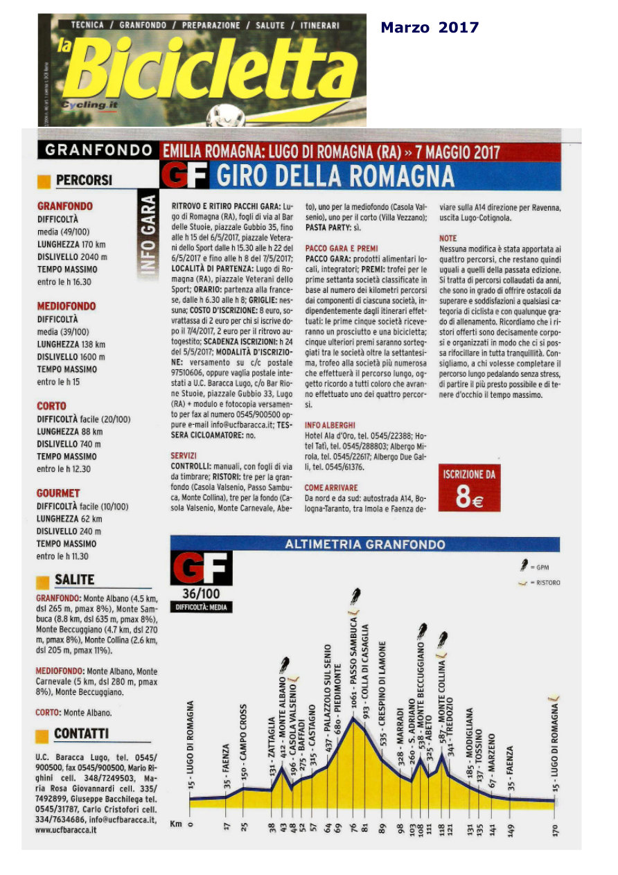 La Bicicletta: Marzo 2017 rassegna stampa