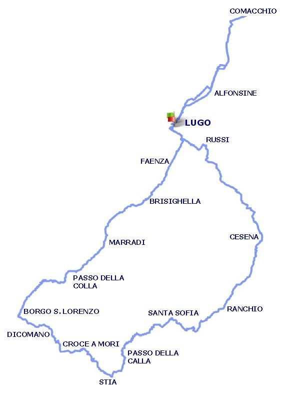 Mappa del percorso Randonnèe