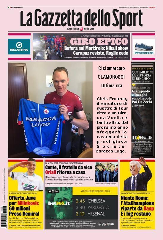 La Gazzetta dello Sport: Chris Froome