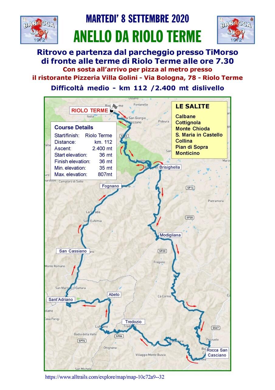 Anello da Riolo Terme - 8 settembre 2020