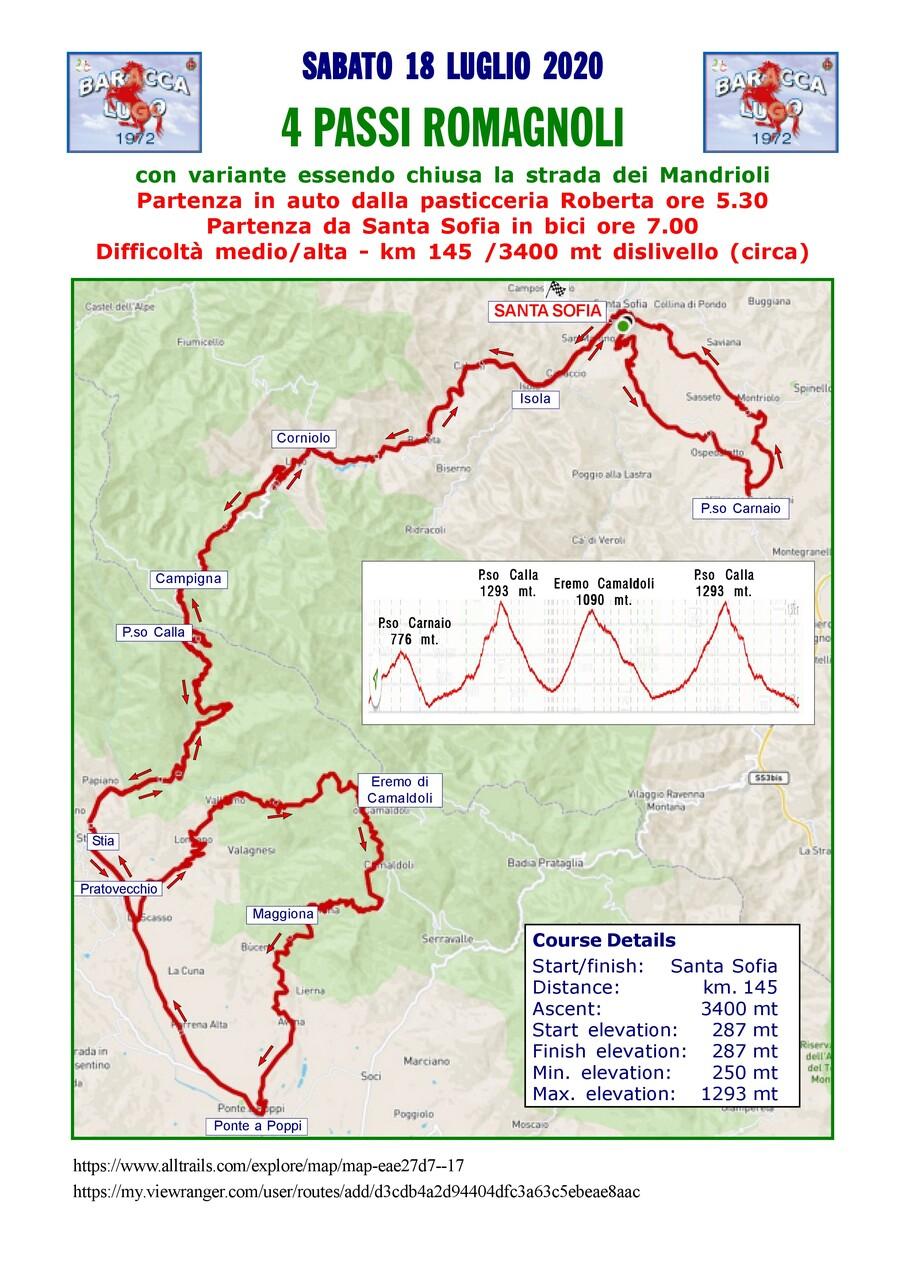 4 passi romagnoli - sabato 18 luglo 2020