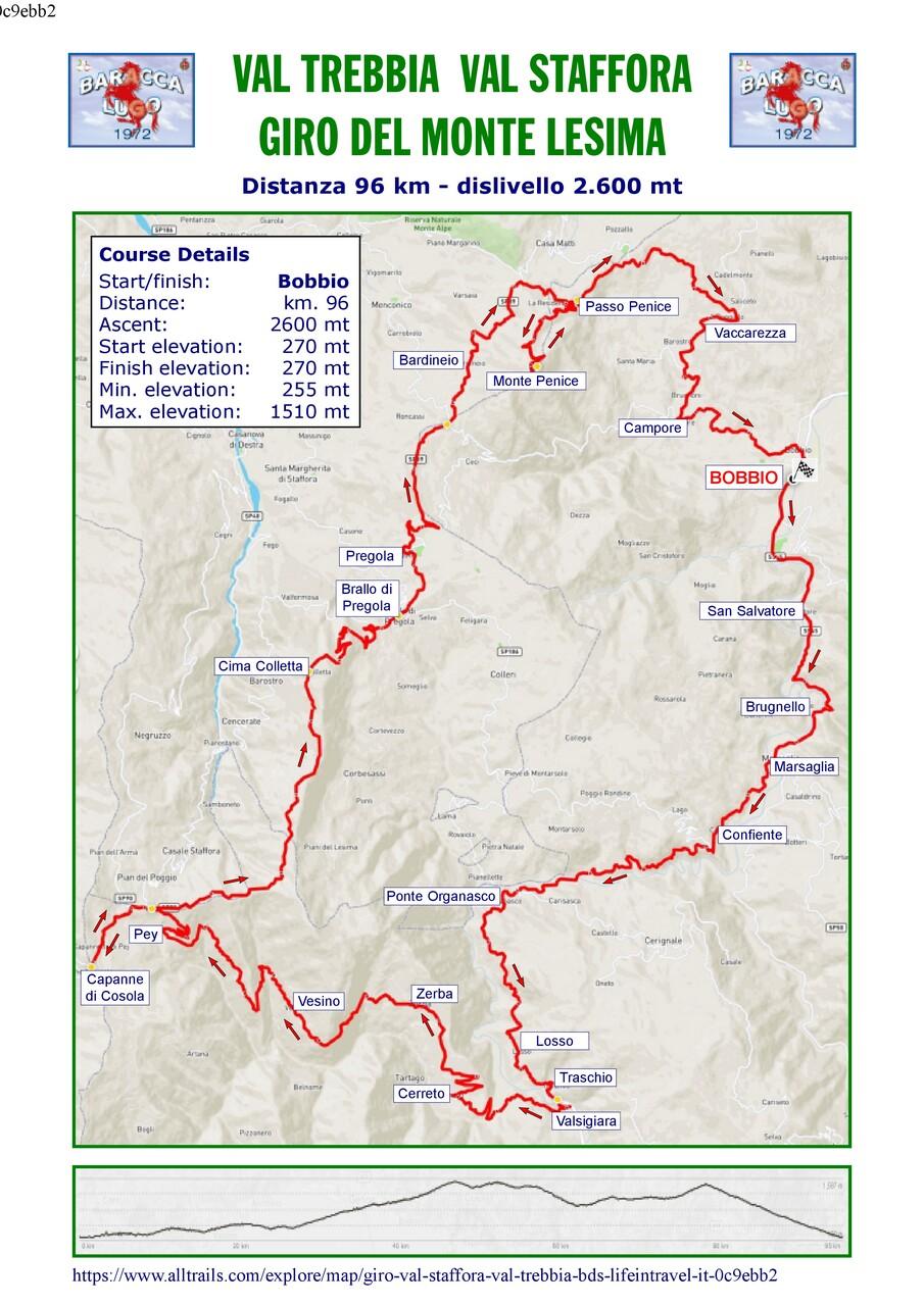 Val Trebbia - val Staffora, Giro del Monte Lesina
