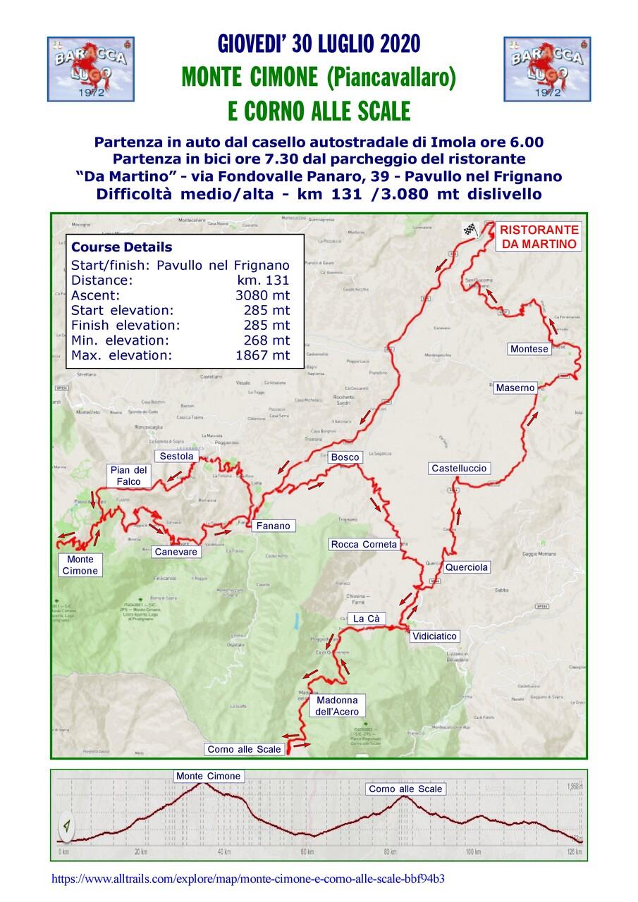 Monte Cimone (Piancavallaro) e Corno alle Scale - 30 luglio 2020